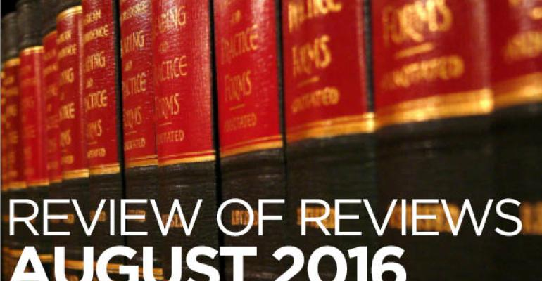 """Review of Reviews: """"Revocable Trusts and Incapacity Planning: More Than Just a Will Substitute,"""" 24 Elder Law Journal (forthcoming)"""