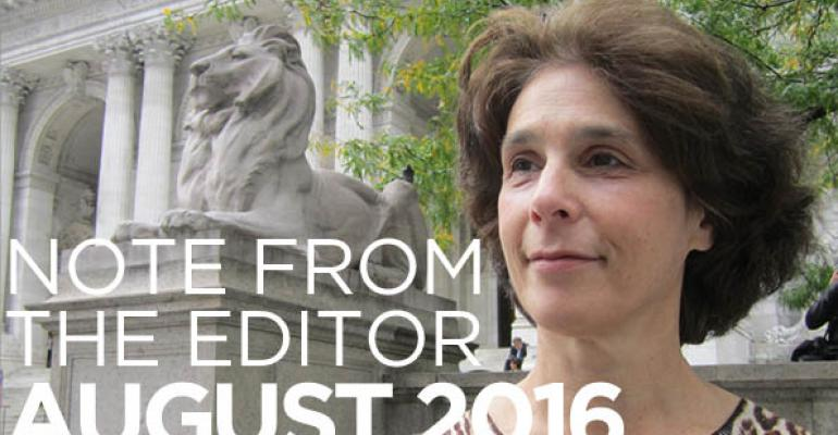 Note From The Editor: August 2016