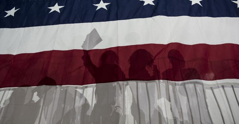 American flag election