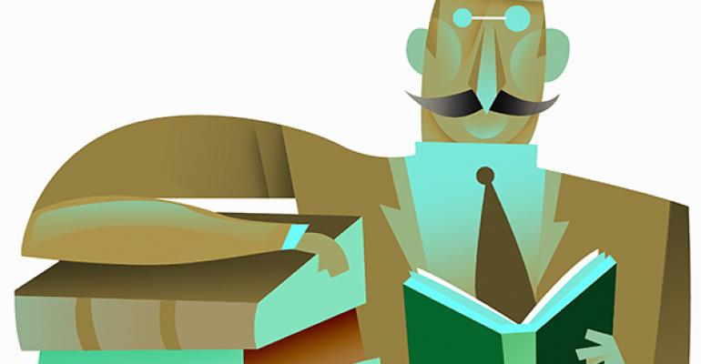businessman books