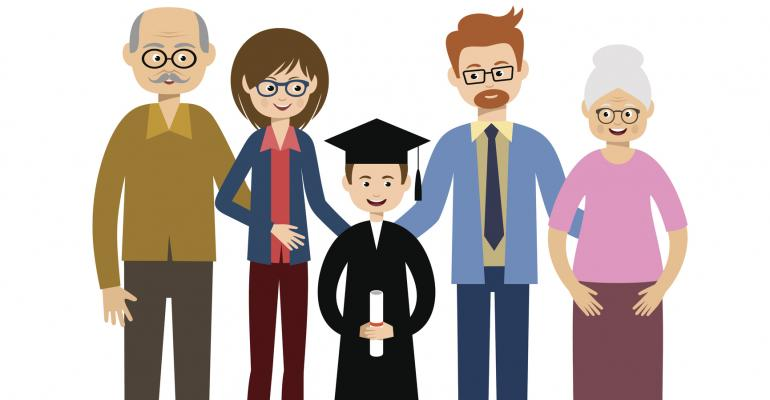 grandparents family college graduate