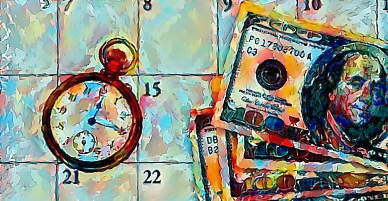 calendar money clock