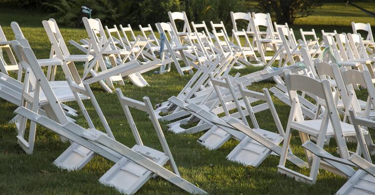 overturned chairs