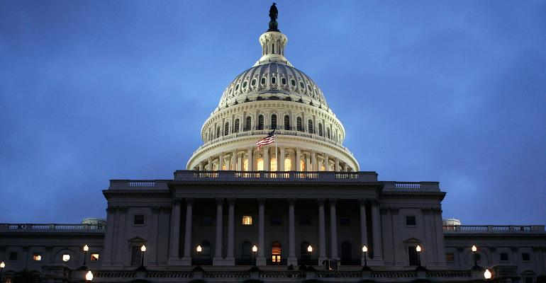U.S. Capitol building night