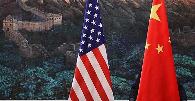 us and china flag