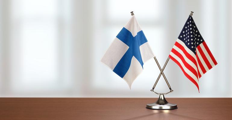 U.S. flag Finland flag
