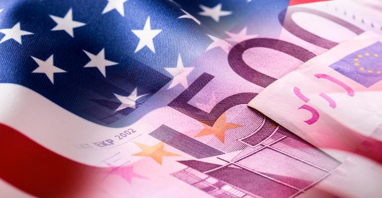 usa flag euros