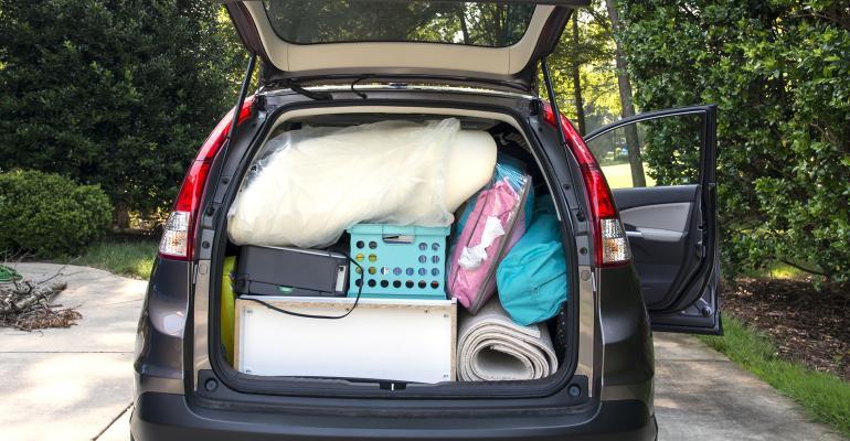 van loaded