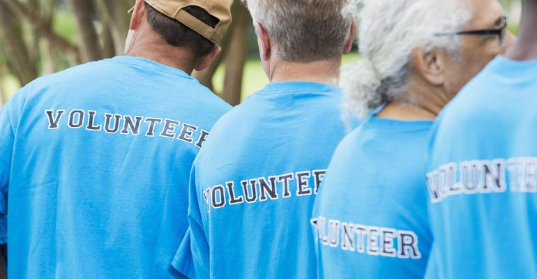 elderly volunteers