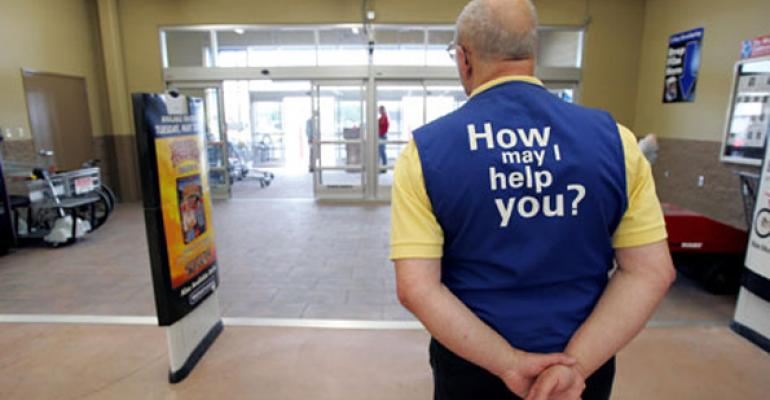 Wal-Mart greeter