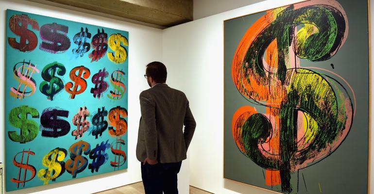 And Warhol art dollar signs