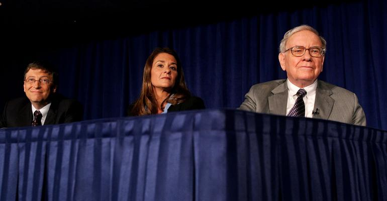 Bill and Melinda Gates Warren Buffett