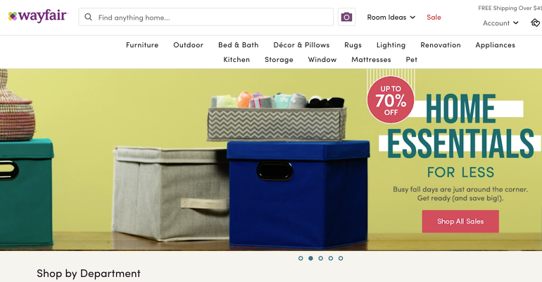 wayfair screenshot