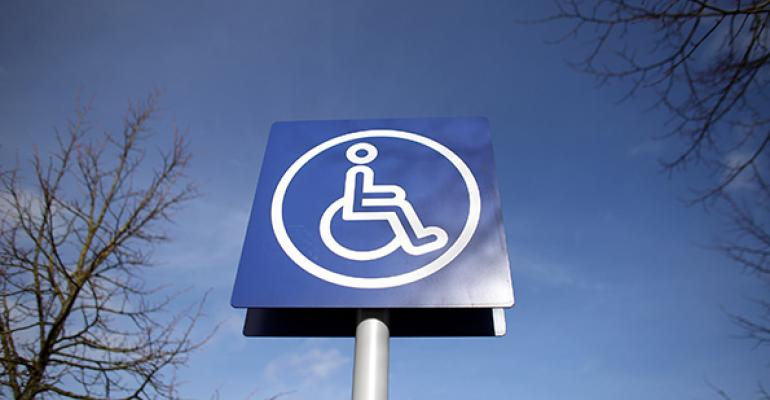 wheelchair disabled sign