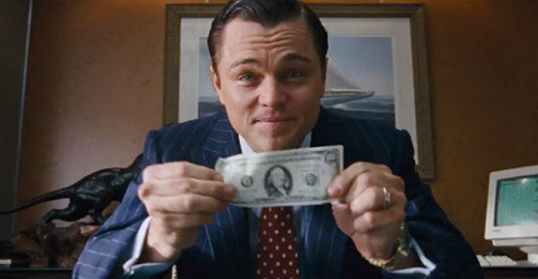 Wolf of Wall Street money