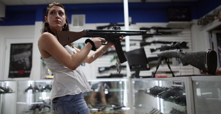 woman gun store