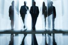 businessmen silhouette