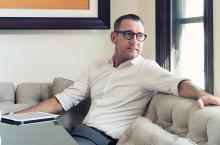 Joe Duran in his home in Newport Beach Calif