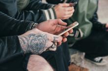 millennials phones tattoos