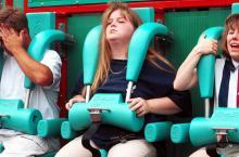 roller coaster scared upset