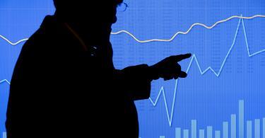 stock market silhouette
