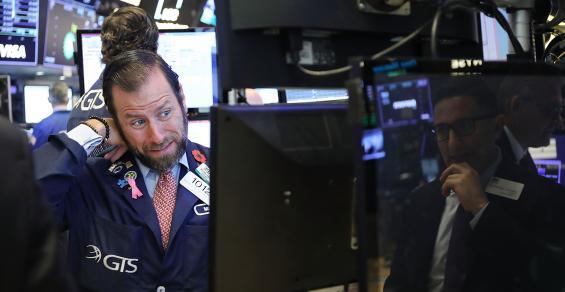stock trader sad