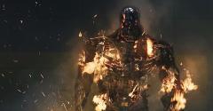 Terminator robot burning