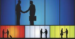 businessmen handshakes