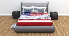 bed usa flag