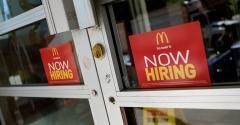 McDonald's hiring sign