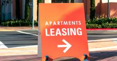 apartments for lease sign
