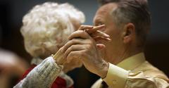 retirees dancing