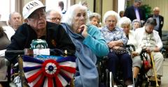 retirees in retirement home