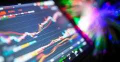 stock market data on tablet