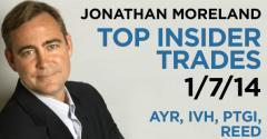 Top Insider Trades 1/7/14: AYR, IVH, PTGI, REED