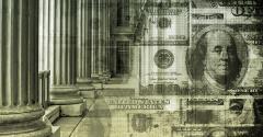 finance bank pillars money