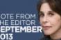 Editor's Note: September 2013