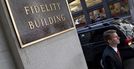 A Fidelity Investments sign.