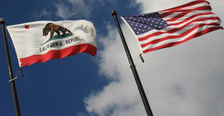 California and U.S. flags