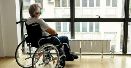 senior man wheelchair