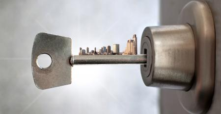 key lock city