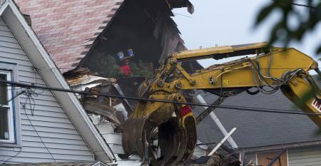 demolishing home