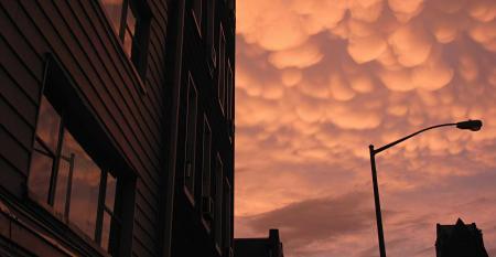 apartment building cloudy sky
