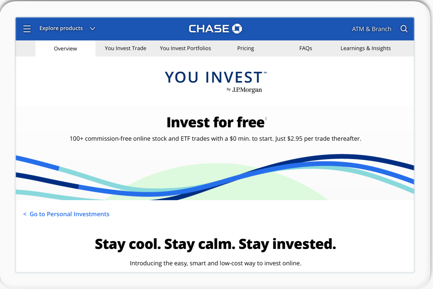 JPMorgan Offers Customers Free Trades With New You Invest App