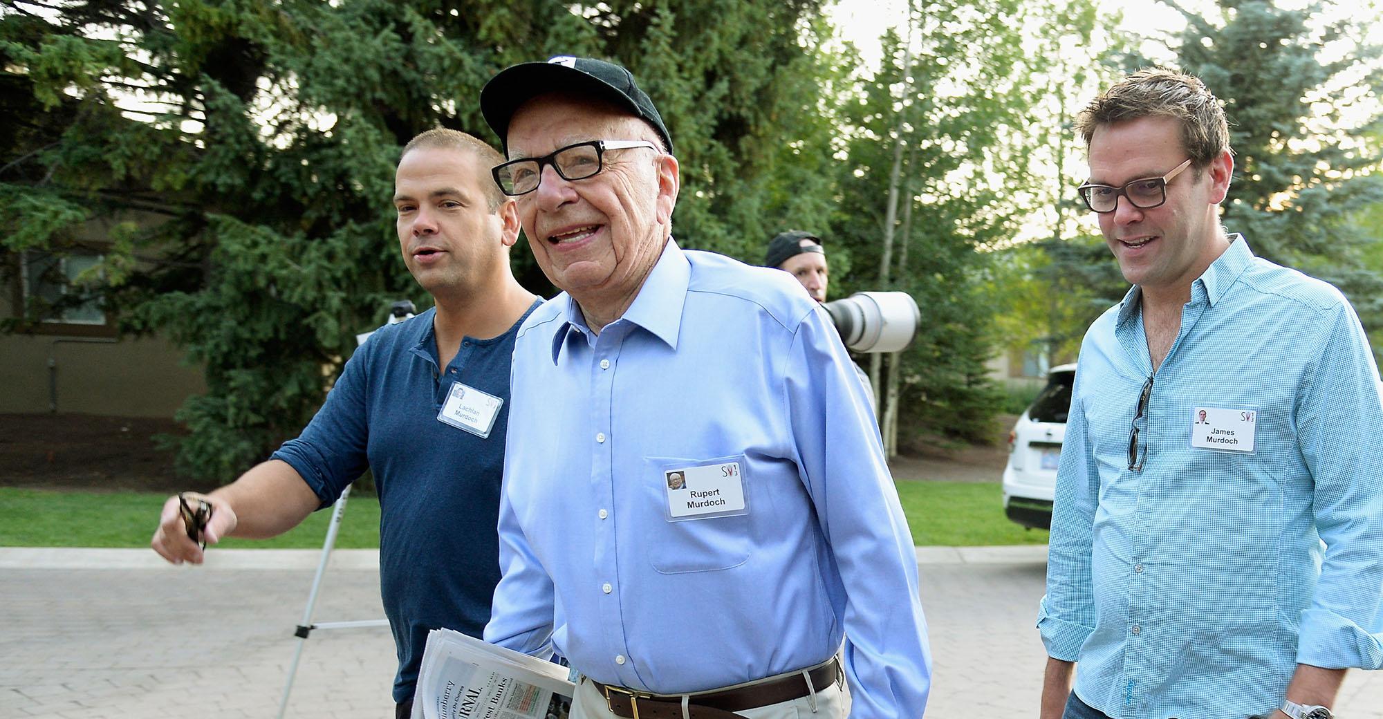 Rupert Murdoch and sons