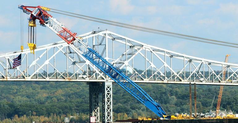 Tappan Zee bridge construction