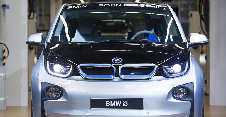 electric BMW car