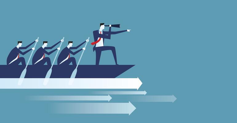 business team leader boat