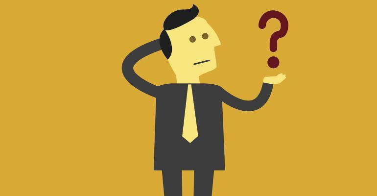 businessman question