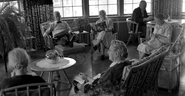 black and white retirees